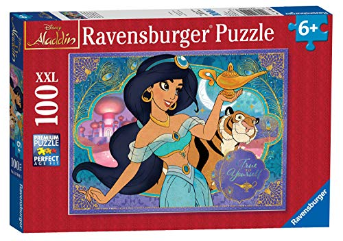 Ravensburger Disney Princess Adventureous Spirit 100 Piece XXL Jigsaw Puzzle for Kids - Every Piece is Unique, Pieces Fit Together Perfectly, Multicoloured