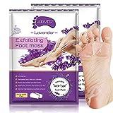 Foot Peel Mask 2 Pack,Peeling Away Calluses and Dead Skin Cells, Natural Exfoliator for Dry Dead Skin, Callus, Repair Rough Heels for Men Women (Lavender)