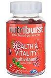 NUTRIBURST Health & Vitality Gummy multivitamins | Plant Based, Sugar Free Supplement | 60s Gummies 1 Month...