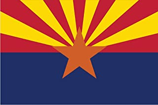 JMM Industries Arizona Flag AZ Vinyl Decal Sticker The Grand Canyon State Car Window Bumper 2-Pack 5-Inches by 3-Inches Premium Quality UV-Resistant Laminate PDS309