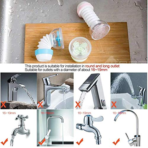 Carrot® - 360 Degree Water Saving Faucet Adjustable multiple Types of Output Water Valve Splash Regulator Water Filter Tap Kitchen Accessories, Water Faucet Kitchen Tap (Color May Vary)