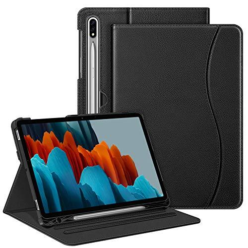 FINTIE Custodia per Samsung Galaxy Tab S7 11   2020 SM-T870 T875 con S Pen Holder - [Multi-angli] Slim Fit Stand Cover Protettiva Case con Tasca Auto Sveglia Sonno Funzione, Nero