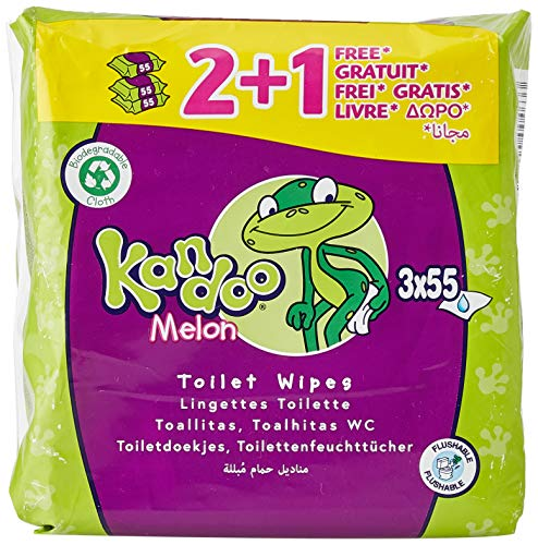 Pampers Kandoo Magic Melon Toilet Wipes, 3 x 55 Wipes (165 Wipes) by Pampers