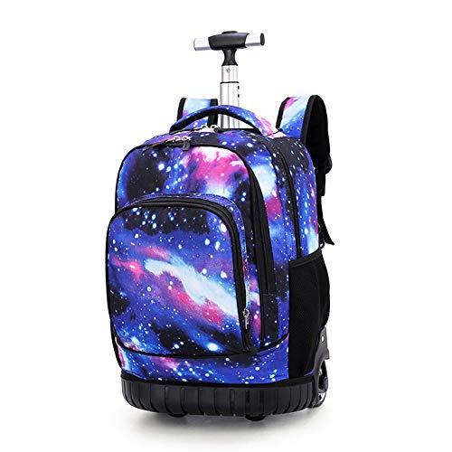 Trolley Bag Schulrucksack Kindergepäck Schulranzen Kinder Trolley Rucksack Schultaschen Rucksack Rollen für Junge und Mädchens