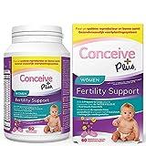 Conceive Plus Vitamines de fertilité pour femmes + nutriments clés - Régulation du corps de soutien, cycles sains, aide à la conception - 60 Caps