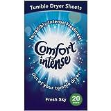 3 pk x 20 Comfort Intense Fresh Sky Tumble Dryer Sheets nice laundry