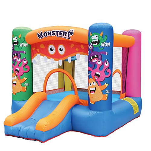 AirMyFun Inflatable Bounce HouseBouncy Castle with Air BlowerBouncy House for Kids PartyPlay HouseJumping Castle with Carry BagMonster Theme