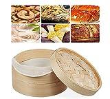 MAQRLT Vapores de bambú para cocinar, el Vapor de bambú y Steamer Cubierta Hecha a Mano del hogar 30Cm Pan al Vapor de bambú Jaula de cajones, Regalar Vapor de Tela