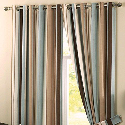 cortinas turquesa rayas