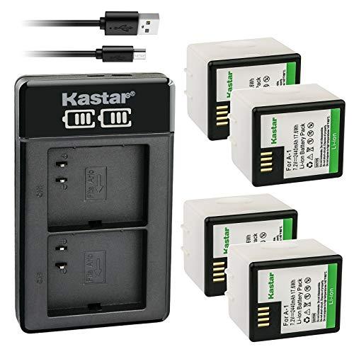 Kastar 4X Battery and LTD2 USB Charger Replacement for Arlo A-1, Arlo A-1B, Arlo A-1C, P/N: 308-10029-01, Arlo Pro, Arlo VMC4030, Arlo Pro 2, Arlo Security Light VMA4400 Netgear, Arlo VMS4230-100PAS