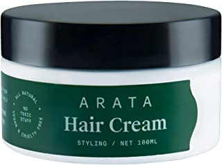 Arata Natural Styling & Hold Hair Cream With Organic Flaxseed & Olive Oil    All-Natural, Vegan & Cruelty-Free    Styling...