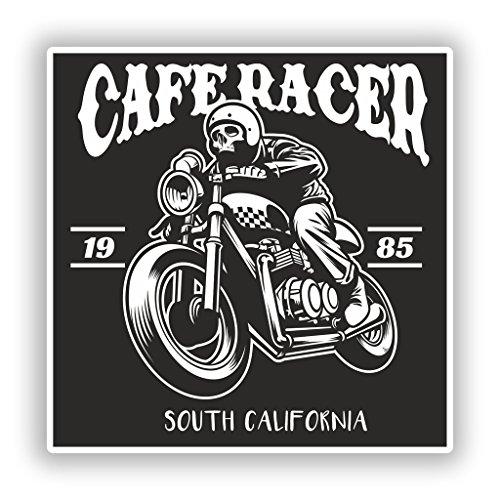 2x Pegatinas de vinilo de café RACER Skyline viaje equipaje # 7930