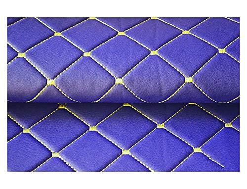 Polipiel Tela de Polipiel, Fina y elástica Tela por Metros de Polipiel para tapizar Tela de Piel Sintética para Tapizar Material de Artesanía para Cojines Coches Camas Sofás -Cuadrado azul 1.43x2m