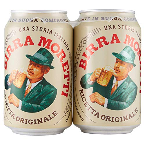 24x Birra Moretti Ricetta Originale Italian Lager Beer. 4,6% Vol. 33cl