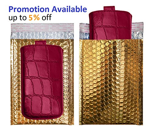 AMZ Bubble Mailers 5 x 9 Pack of 25 Gold Padded Envelopes 5x9. Self-Adhesive Closure. Metallic Shipping Bags for Mailing, Packing #00 25 Pack Photo #6