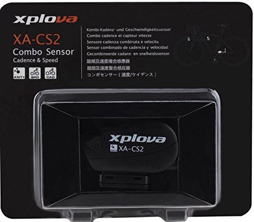 Xplova Sensor de modulación y Velocidad Combo X5con tecnología Ant +, Negro