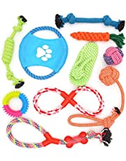 Mumoo Bear Dog Rope Toys 10 Pack Pet Toy Set Puppy Teething Chew Rope Tug Assortment for Small Medium Large Dogs Breeds