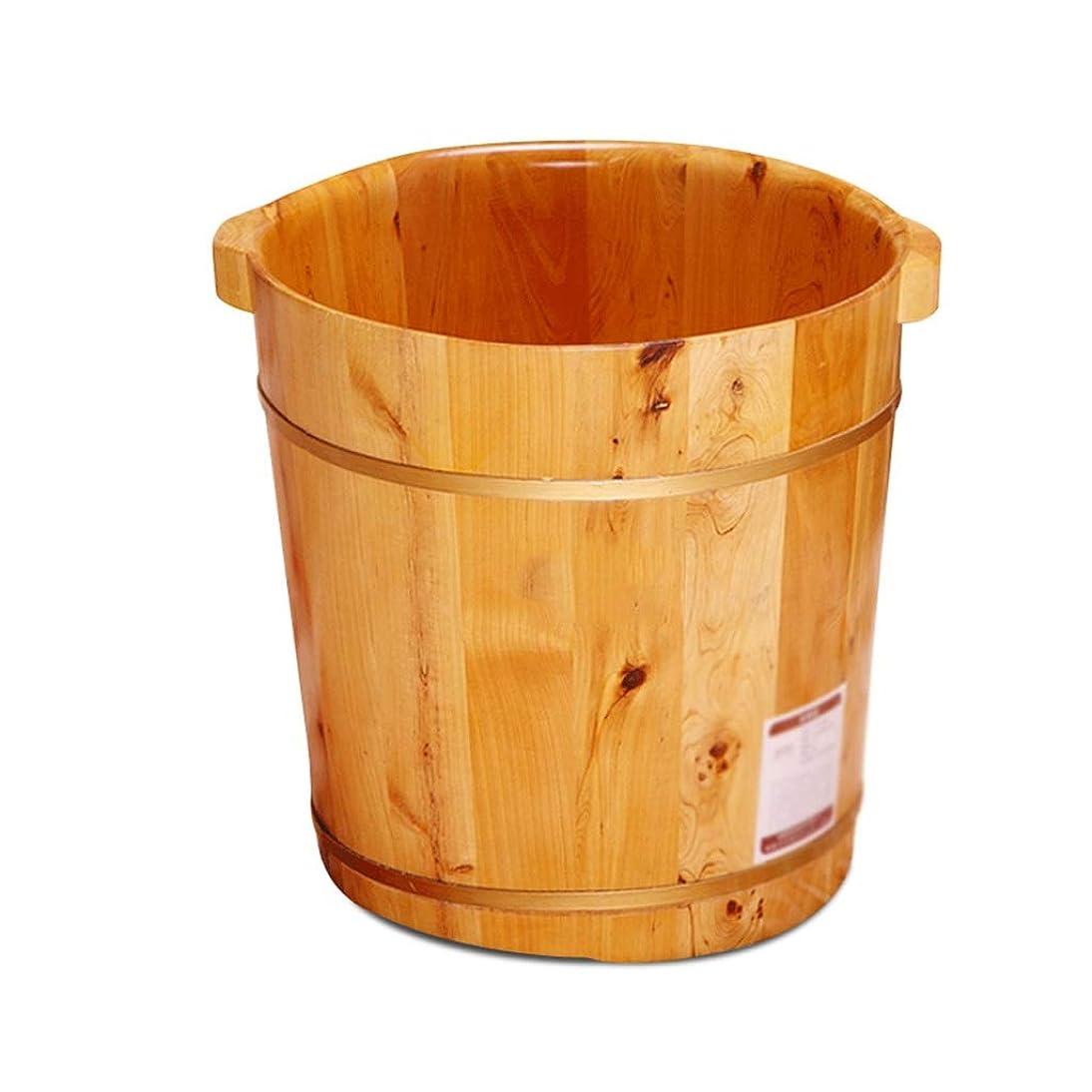 人物書くクロール家庭用フットバスバレル木製洗面ソリッドウッドディープバレル以上のカーフ健康アーティファクト (Color : B)
