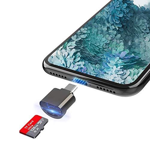 Micro SD Kartenleser, Bofuler USB C TF Kartenadapter Tragbarer externer Speicherkartenadapter Kompatibel mit Samsung S10 / S20 / S9 / Note 20, Galaxy Tab S6 und Moto G8 für andere USB C OTG Geräte