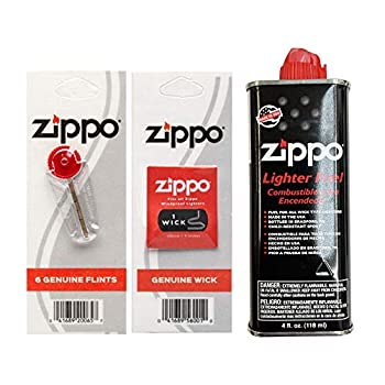 Zippo Fuel Fluid 1 Flint & 1 Wick Value Pack Combo Set 4 oz