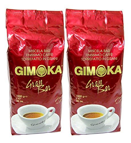 Gimoka Gran Bar Kaffee ganze Bohnen 2kg (2 x 1kg-Packung)