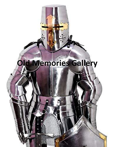 Oude herinneringen galerij middeleeuwse ridder kruisvaarder half pak van pantser halloween kostuum Larp
