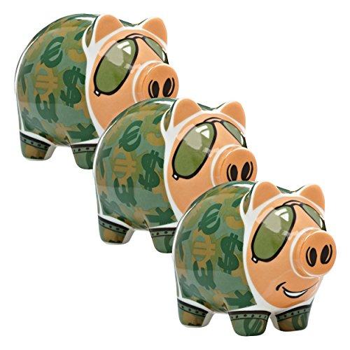 Ritzenhoff Mini Piggy Bank, Spaarvarken, Porselein, Design 2013, Potts, 1901056