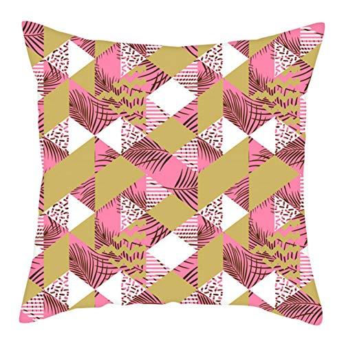 MAIQIAN Funda de cojín Irregular geométrica, Funda de Almohada con patrón Decorativo para el hogar, sofá de Dormitorio, Fundas de Almohada a Rayas Suaves