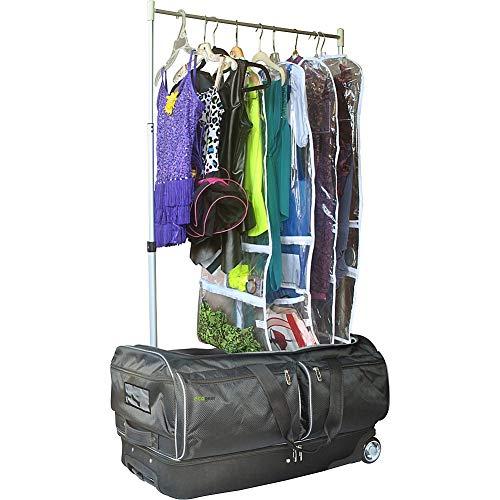 EcoGear 28 Inch Wheeled Duffel with Garment Rack, Black, One Size