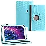 UC-Express Tablet Hülle für Medion Lifetab E6912 Tasche Schutzhülle Cover 360° Drehbar Hülle, Farben:Türkis