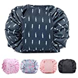 Ebay Bolsa de maquillaje con cordón organizador de maquillaje bolsa de almacenamiento bolsa de cosméticos bolsa de gran capacidad portátil plegable accesorios de viaje para mujeres