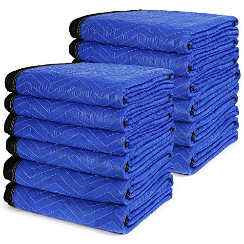 12 Moving Packing Blankets 72 x 80 Inch