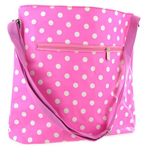 40cm rosa e bianco a pois a tracolla/borsa a tracolla