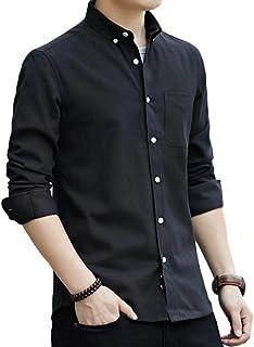 [ラッキーチャーム] シャツ メンズ 長袖 オックスフォード ボタンダウン 透湿素材 メンズシャツ