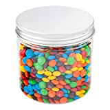 17 Ounce Plastic Mason Jars, 100 With Aluminum Lid Screw On Lid Containers - Large, Round, Clear Plastic Large Plastic Jars, For Snacks, Candy, Or Ingridients - Restaurantware