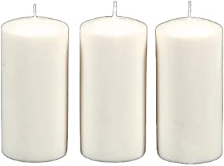 Darice 1162-91 Unscented (3 Pieces) Pillar Candle, White