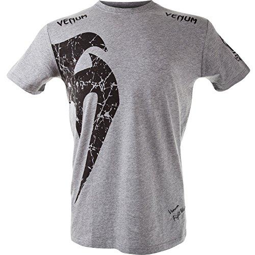 Venum Herren T-shirt Giant, Grau/Schwarz, XL, EU-1324