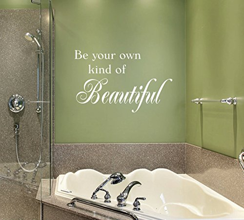 Autocollant mural « Be Your Own Kind of Beautiful » pour chambre à coucher