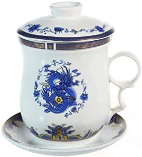 lachineuse TISANIERE Traditionnelle - Dragon Imperial - Bleu de Chine
