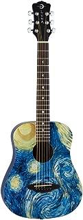 Luna SAFSTR Safari Starry Night Spruce Top Acoustic Guitar, Translucent Blue