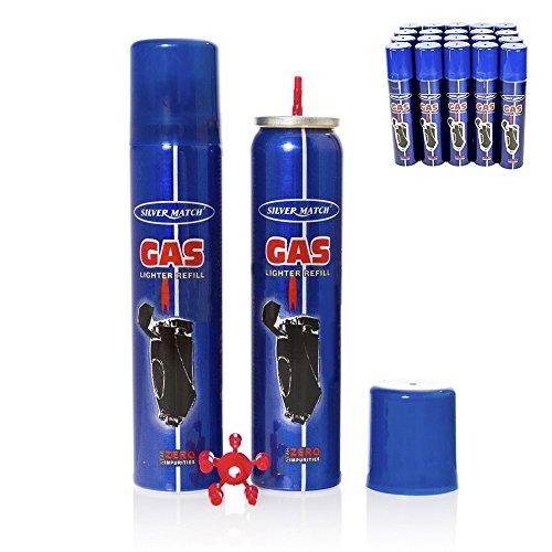 Silver Match Refill Lighter Gas Feuerzeug Gas Feuerzeuggas 90 ml
