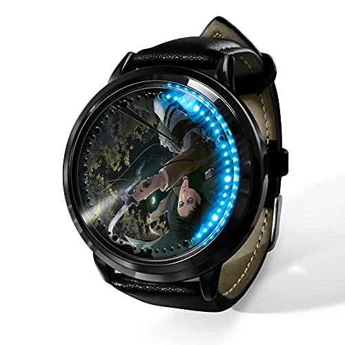 Attack on Titan Reloj Reloj LED Pantalla táctil a Prueba de Agua Luz Digital Reloj Reloj de Pulsera Unisex Cosplay Regalo Nuevos Relojes de Pulsera Regalo para niños-A