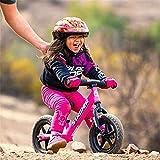 Balance Bike No Pedal Bicycle, progettato per insegnare ai bambini le basi del ciclismo e passare a una bicicletta con pedali, telaio in acciaio robusto, altezza del sedile regolabile,Pink