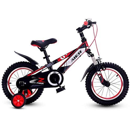 YLLN Bicicletas Scooters al Aire Libre para niños Niño Niña Bicicleta 3~15 años Bicicleta de Ejercicio Triciclo Niños Bicicleta de montaña Cochecito (Color: Rojo, Tamaño: 14 Pulgadas)