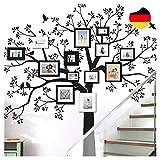 Grandora Wandtattoo XXL Baum Vögel I schwarz (BxH) 165 x 160 cm I Wohnzimmer Schlafzimmer Flur Sticker Aufkleber selbstklebend Wandsticker Wandaufkleber W5480