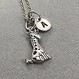 Collier à breloque girafe, collier animal, collier personnalisé, bijoux animaux, bijoux girafe, collier fille, ami