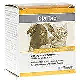 Alfavet Dia Tab Diät-Ergänzungsfuttermittel Kautabletten zur Linderung akuter Resorptionsstörungen des Darms, 6 x 5,5 gm