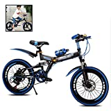 Folding Bikes Children's Bicycles Students Boys and Girls 5-10 Years Old Mountain Bike