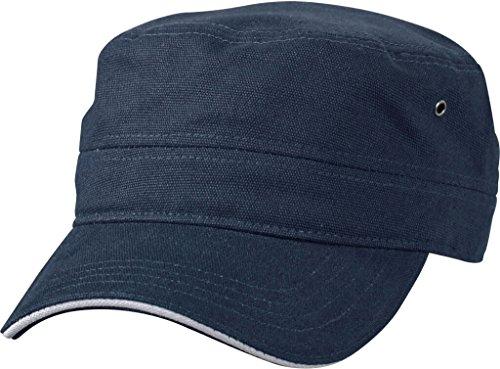 Myrtle Beach Sandwich Cap im Military-Stil aus robustem Baumwollcanvas (navy/white)