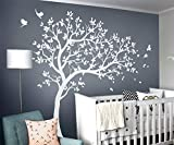 white tree decals - White Tree Wall Decals Wall Tattoo Large Nursery Tree Decals Wall Mural Removable Vinyl Wall Sticker KW032R